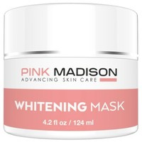 SKIN LIGHTENING Whitening Cream Mask. Use as Dark Spot Corrector to Brighten Dark Skin. Natural Whitening Cream Mask for Face Body Dark Spots and Age Spots. Contains Vitamin C + B3 + Lactic Acids + Various Clays. Face Legs Body Knee Elbow Skin Brighteners.