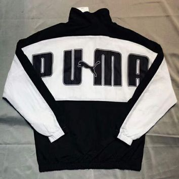 PUMA 2018 spring new retro fashion trend black and white color matching couple casual sunscreen jacket F-XMCP-YC