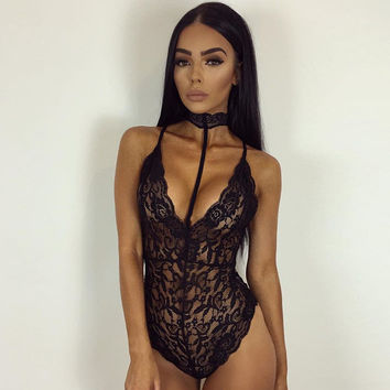 Hot Deal Cute On Sale Summer Women's Fashion Sexy Slim Lace One-piece Exotic Lingerie [9600197199]