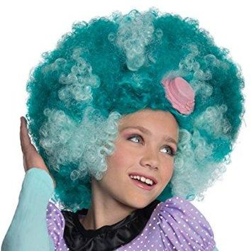 Monster High Honey Swamp Wig, Child, Blue Afro
