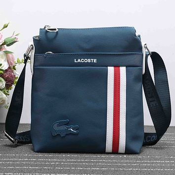 Lacoste Women Fashion Leather Satchel Shoulder Bag Crossbody