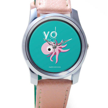 You for octopus Yinglish Crash Course Wrist Watch