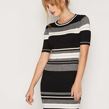 Black Stripe Belted Shirt Dress, New Look