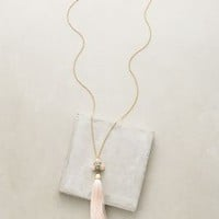 Lele Sadoughi Striped Orchid Tassel Necklace in Gold Size: One Size Necklaces