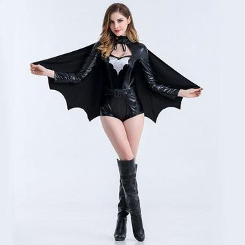 ac PEAPON Women's Fashion Bat Sexy Evening Party Prom Dress Costume Apparel [47035449369]
