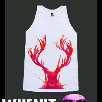 worldwide shipping just 7 days DEER face shirt singlet tank top 10342
