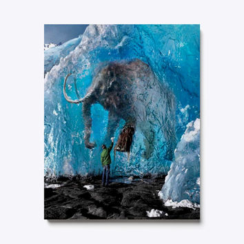 Ancient Mammoth in The Ice