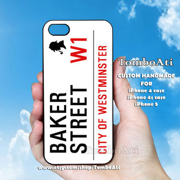 Baker Street Sherlock - Print on Hard Cover For iPhone 4/4S and iPhone 5 Case