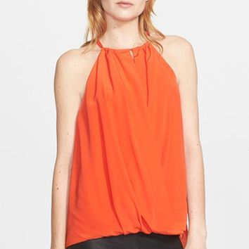Women's Trina Turk High Neck Silk Top,