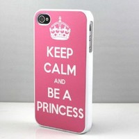 Keep Calm and be a Princess Snap On Case Cover for Apple iPhone 4 iPhone 4s