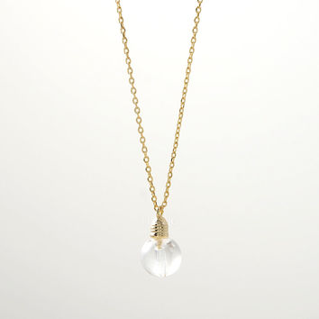 Gold/ Silver Light Bulb Necklace
