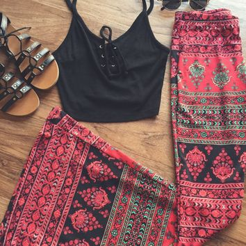 Gypsy Printed Bell Bottoms