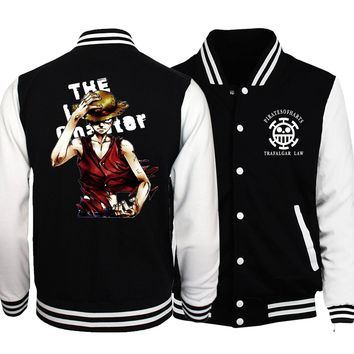 2017 new fashion Naruto brand clothing baseball uniform sweatshirts drake tracksuit hoodies Anime one piece spring jacket mens