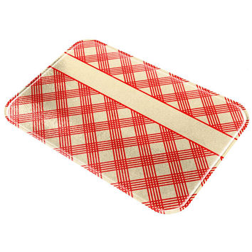 Classic Country Cookbook All Over Glass Cutting Board
