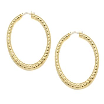 Be a Classic Oval Hoops in Gold