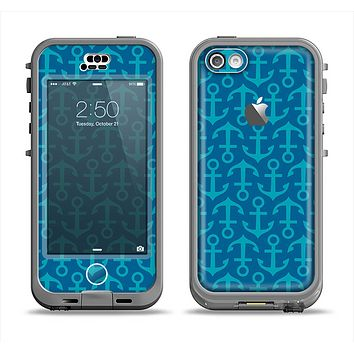 The Blue Anchor Collage V2 Apple iPhone 5c LifeProof Nuud Case Skin Set