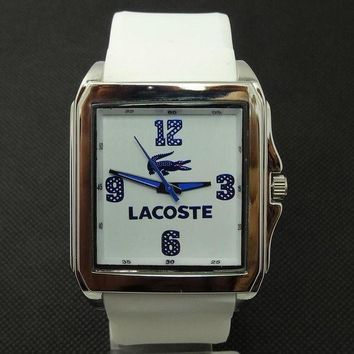 DCCKJ1A Lacoste tide brand fashion men and women stylish exquisite watches F-SBHY-WSL White + silver case + blue number dial