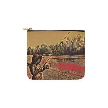 Levi Thang Fishing Design 11 Carry-All Pouch 6''x5''