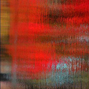 """""""Covered in Red"""" by Kevin Schumacher, Metallic Photographic Archival Print"""