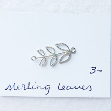 Sterling leaves pendant - trunk show
