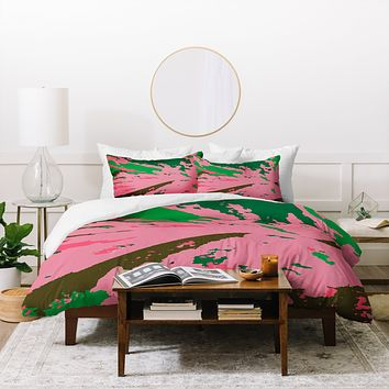Rosie Brown Caladium Duvet Cover