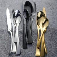 4pc Kingsley Metallic Flatware Set (6 Colors)