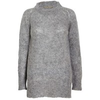 Liw mohair mix strik sweater - YouHeShe