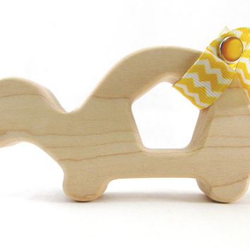 Organic Turtle Baby Teether - Natural and Organic Maple Teether