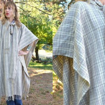Vintage Sherlock Holmes Heavy Wool Hounds-tooth Cape