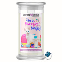 Have A Purrfect Birthday! Jewelry Greeting Candle