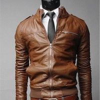 new arrive brand motorcycle leather jacket