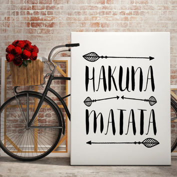 Hakuna Matata Dictionary Art Print Quote from BlueBookDesign on
