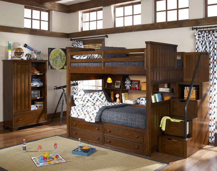 Jefferson Full Over Full Stairway Bunk From Totally Kids Fun