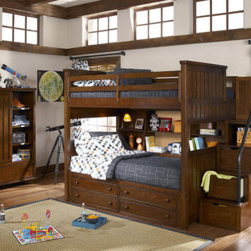 Jefferson Full over Full Stairway Bunk Bed