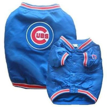 CUPUPHP Chicago Cubs Dog Dugout Jacket