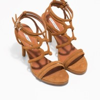 & Other Stories | Strappy Suede Sandals | Beige
