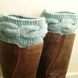 Mint knit boot cuffs - Mint Leg Warmers - Cable boot toppers  - Winter Fashion 2013 - Machine Washable - WINTER SALE