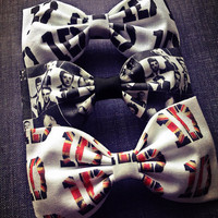 One Direction fabric bow tie hair bow set 3 for 15 dollars