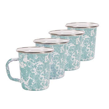 So into this design on Fab! Enamelware Latte Mug Set Of 4 #FabForAll