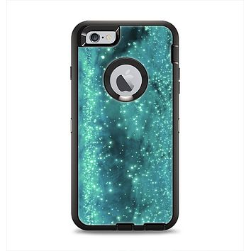 The Trendy Green Space Surface Apple iPhone 6 Plus Otterbox Defender Case Skin Set