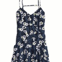's Drop Waist Slip Dress (Floral)