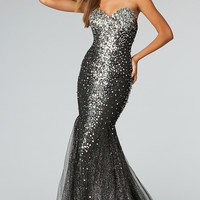 Strapless Sequin Gown JVN by Jovani