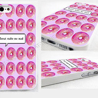 case,cover for iPhone,samsung models>funny,i donut care,doughnut,pastel pink