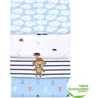 Child of Mine by Carter's Captain Cutie 4-Pack Flannel Blankets - Walmart.com