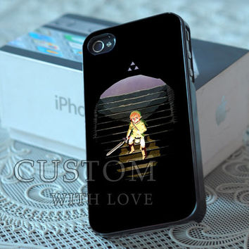 Black Legend of Zelda - Rubber or Plastic Print Custom - iPhone 4/4s, 5 - Samsung S3 i9300, S4 i9500 - iPod 4, 5