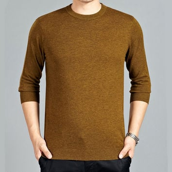 Classic Sailors o-neck Long Sleeve Slim Fit 100% wool knitted sweater