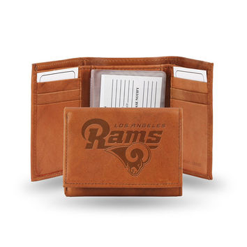 Los Angeles Rams Tri-Fold Wallet (Pecan Cowhide)