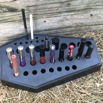 NEW DESIGN Coffin Lipstick Organizer, Lipstick Holder, Coffin, Makeup, Lipstick Holder, Makeup Organization