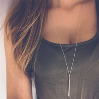 2016 new fashion collier necklace women Gold plated sexy choker body chain bohemian long necklace pendants Vintage jewelry XL365