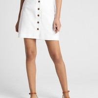 Button-Front Skirt in Linen-Cotton | Gap